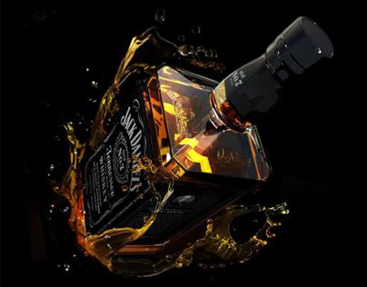 Jack Daniels 3D Lettering