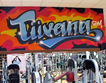 Tüvana gym indoor graffiti