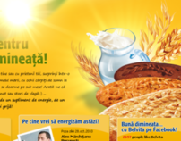 Belvita Start - morning vitality (web project layout)