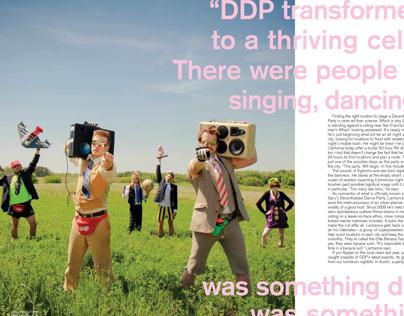 Magazine article spread