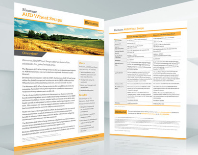 Riemann Wheat Swaps – Brochure