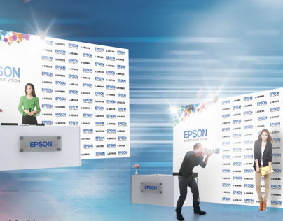 EXHIBITION DESIGN //Backdrop & Reception for Epson