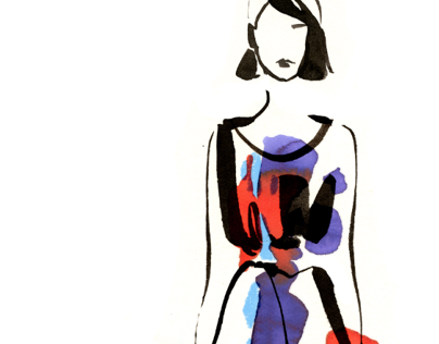Fashion Illustration for THE OUTNET