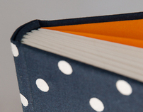 Textile-covered books