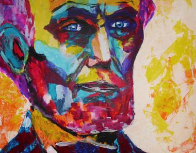 Abraham Lincoln - Acrylic