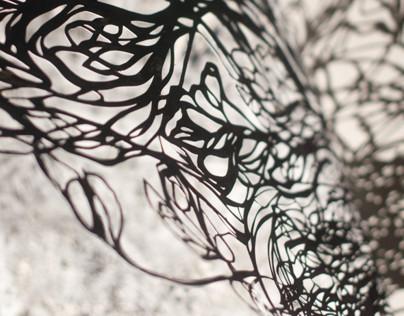 Hand-Cut Paper Creature 1