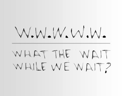 WHAT the WAIT WHILE WE WAIT?