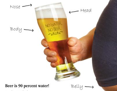 No Water No Beer campaign