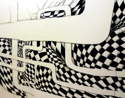 Mural & Projection for La BELLONE FAIT LE MUR !