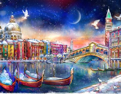 Venice ~ decoration panel