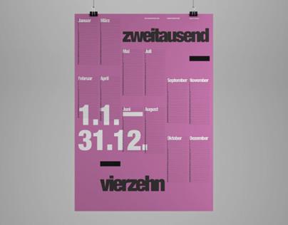 International Typographic Style Calendar 2014