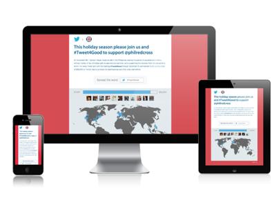 Twitters Tweet4Good Responsive Social Microsite