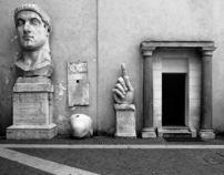 roma architecture postcards