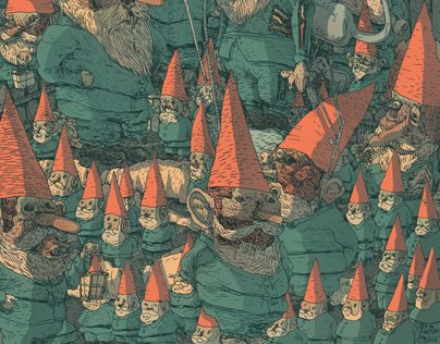 Garden Gnomes Illustration
