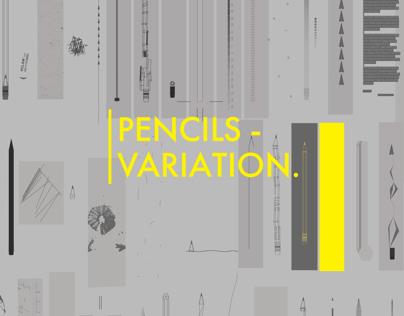 Pencils variations poster
