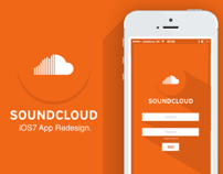 iOS7 SoundCloud App Redesign