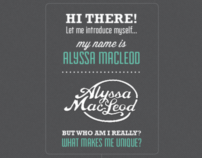 Let Me Introduce Myself - Alyssa MacLeod