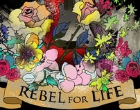 Rebel For Life Tshirt Print