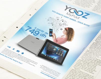 Campagne publicitaire Yooz MyPad