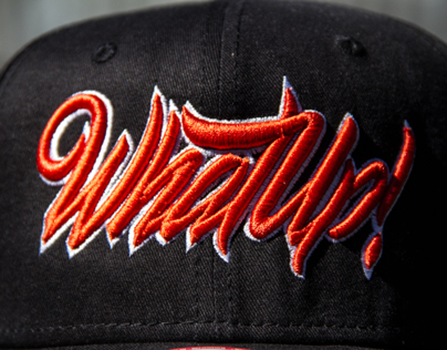 Lettering for SnapBack WhatUp Street Wear Stgo.