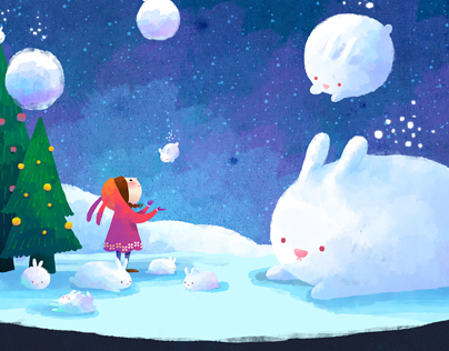 Snowing rabbit