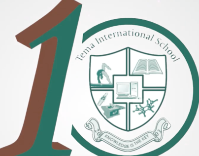 Tema International School 10th anniversary logo