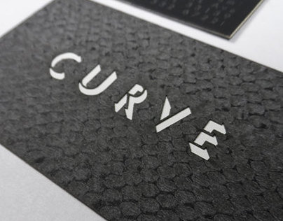 Snake skin laser cut business card
