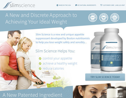 Slim Science Landing Page