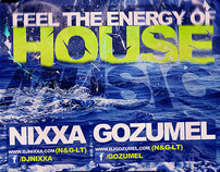 Feel the energery of house music FLYER