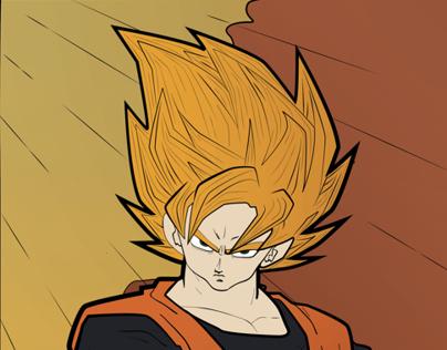 Son Goku Art Nouveau Poster
