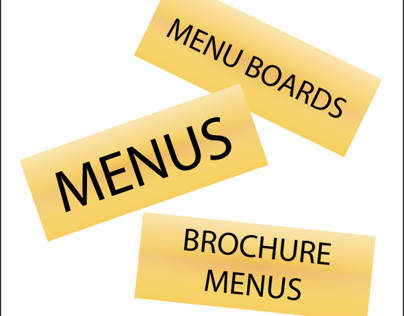 Brochure Menus - Menus - Menu Boards: Signs By Tomorrow