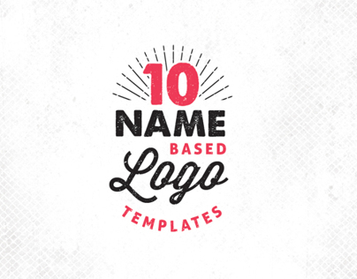 10 Name Based Logo Templates