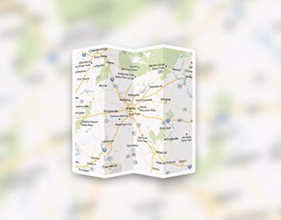 Folded Maps Icon Tutorial