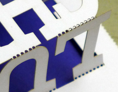 laser-cut, pop-up card (again)