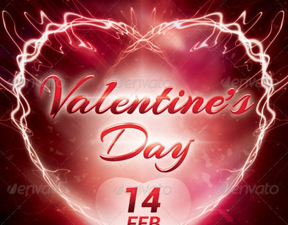A5 Valentine's Day Party Flyer Template 7 in 1 PSD