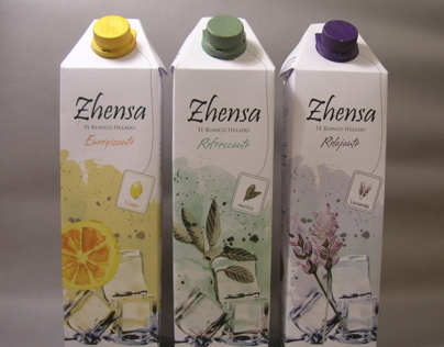 ZHENSA - Iced White Tea Package Design / Té Helado