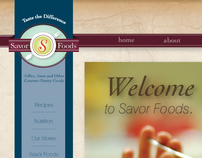 Savor Foods Website