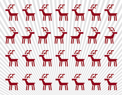 Christmas card with running deers  for Kia Motors