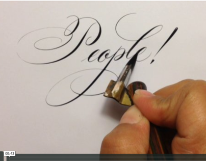 Vimeo of Copperplate Lettering