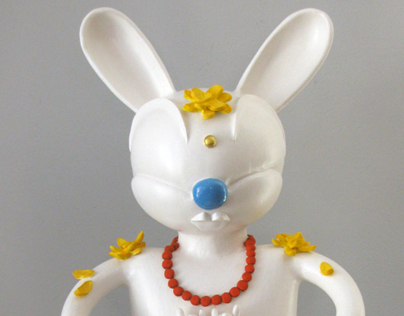 Blue Bubble Buddha Bunny