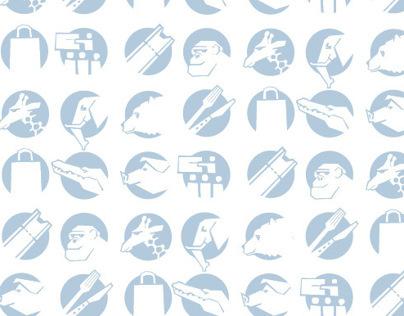 Pittogrammi Bioparco di Roma