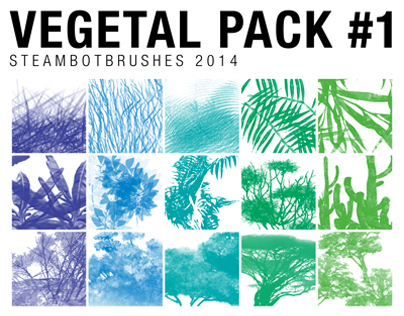 BRUSHES: Vegetal Pack #1