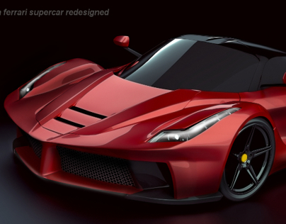 La Ferrari concept restyled lighting project