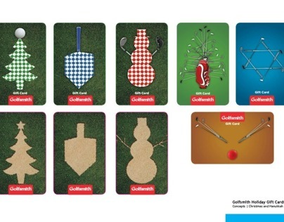 Golfsmith Holiday Gift Card Concepts