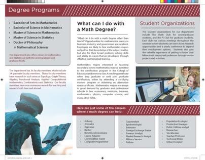 MSU Department of Mathematics and Statistics Brochure