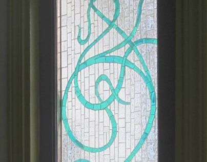 Art Deco mosaic sidelight