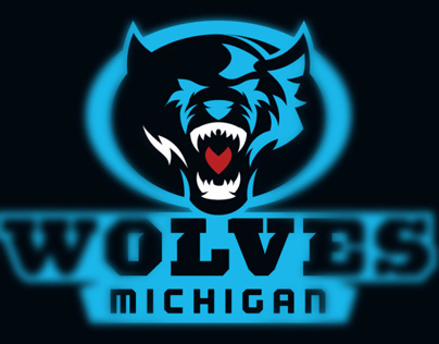 Football Branding Michigan Wolves