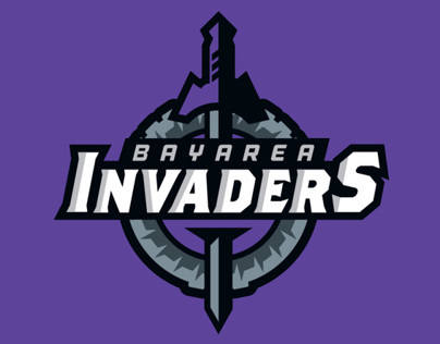 Football Branding Bay Area Invaders