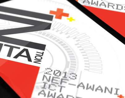 2013 NEF-AWANI ICT AWARDS INVITATION CARD DESIGN