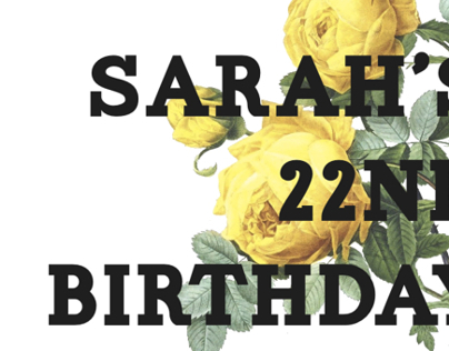 Sarah's Party Invitation